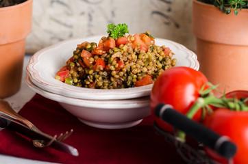 Linsensalat, Tomaten