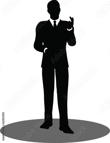 business people meeting standing silhouette