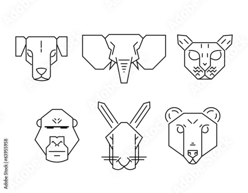 animal icon set.