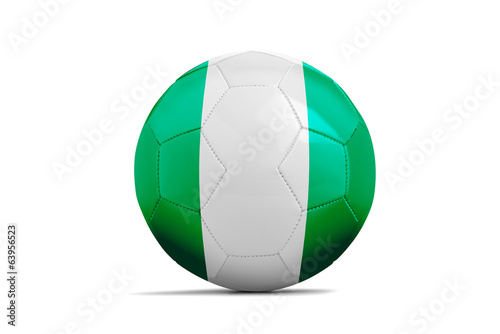 Soccer balls with teams flags, Brazil 2014. Group F, Nigeria