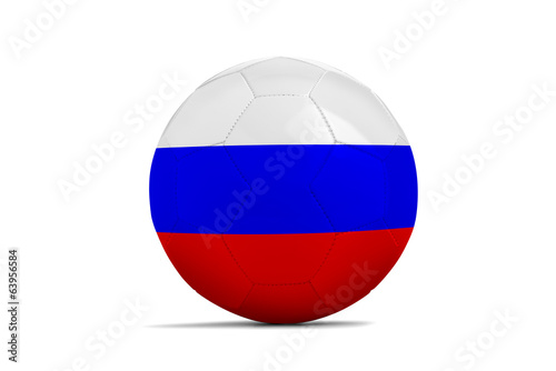 Soccer balls with teams flags, Brazil 2014. Group H, Russia
