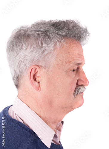 Retired man with CIC hearing aids