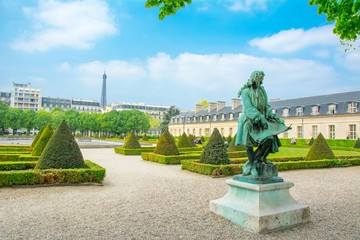 Jardin des Invalides à Paris en France