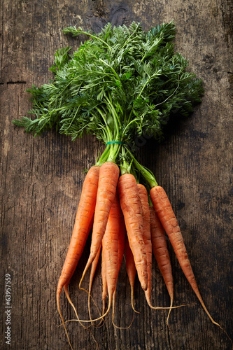 fresh carrot bunch
