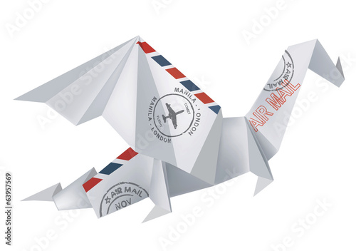 AIR MAIL Origami Dragon