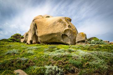 Sardegna, caratteristica roccia granitica della Gallura