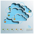 Cloud Shape Communication Business Infographic
