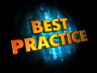 Best Practice Concept on Digital Background.