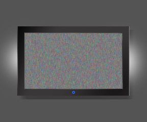 TV screen with static noise caused by bad signal reception