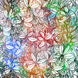 Abstract flowers seamless pattern. Vector, EPS10