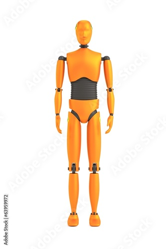 realistic 3d render of crash dummy