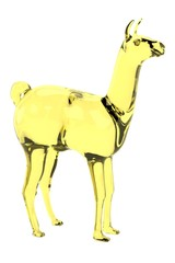realistic 3d render of lama statue