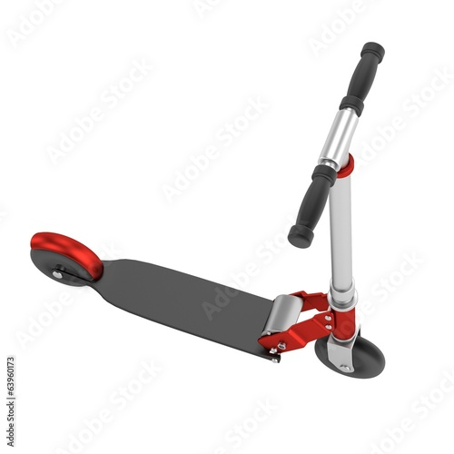 realistic 3d render of scooter
