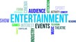 word cloud - entertainment