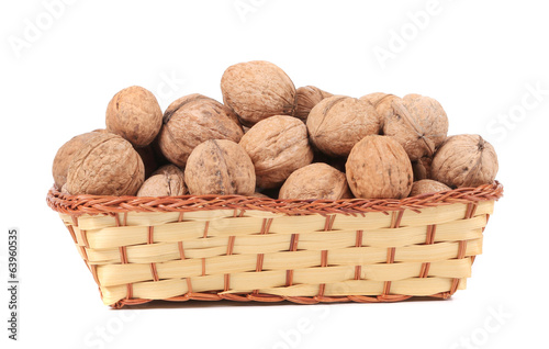 Basket of walnuts.