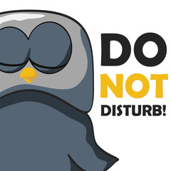 cartoon owl sleep disturb cliping