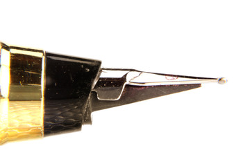 Close up shot of pen nib
