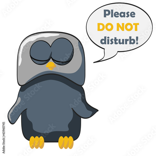 cartoon owl sleep disturb
