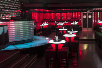 Dance club interior.