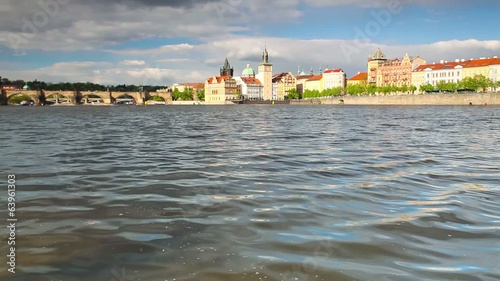 View from Strelecky island on the Charles Bridge in Prague