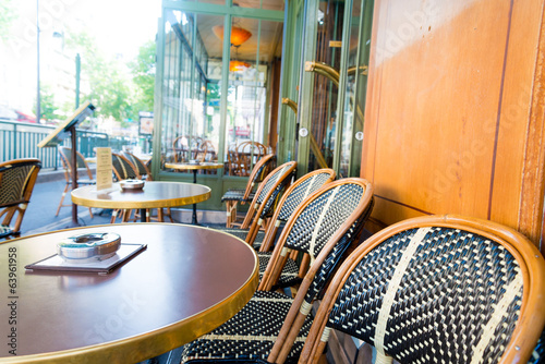 coffee terrace with tables and chairs