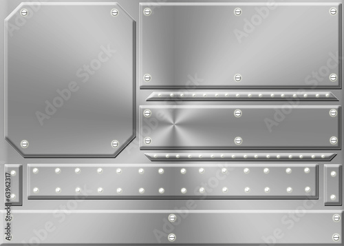 Metal Panel Background F