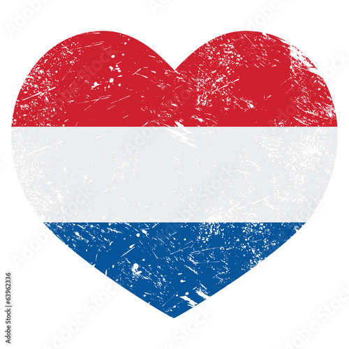 Netherlands, Holland heart retro flag