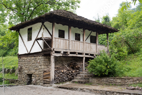 Typical Bulgarian architecture from the period of Ottoman empiri