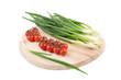 Vegetables on platter.