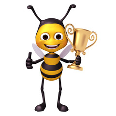 bee with trophy