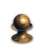 3D Rendered Golden Ball On a Matching Stand