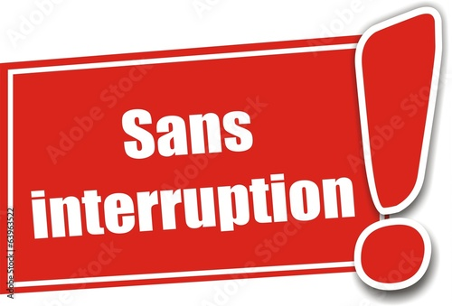 étiquette sans interruption