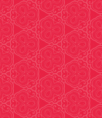 Red lace seamless pattern.