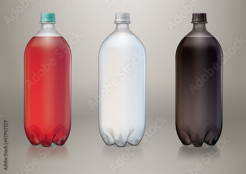 Two liter transparent plastic bottle for new design
