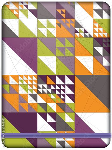 Triangle pattern background. Cover design