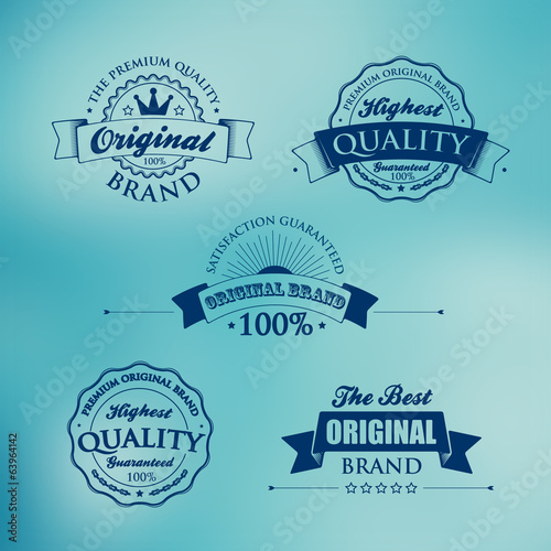 Collection of Premium Quality and Guarantee Labels