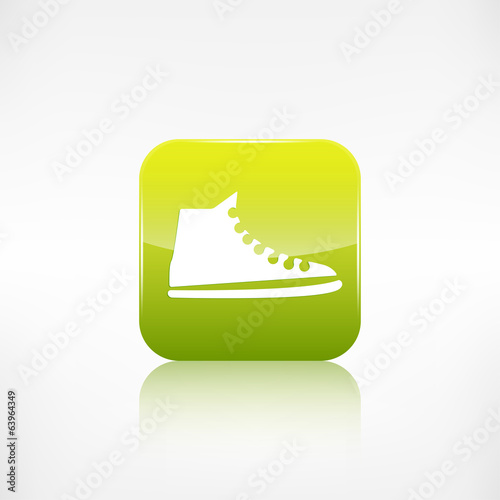 Casual keds, gym shoes icon.Application button.
