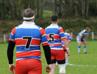 les hommes au rugby