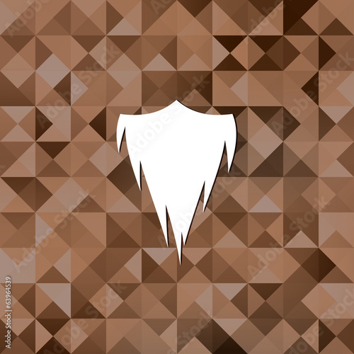 hipster beard icon.Triangle background.