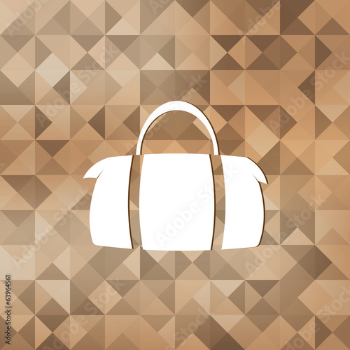 Hipster modern bag icon.Triangle background.