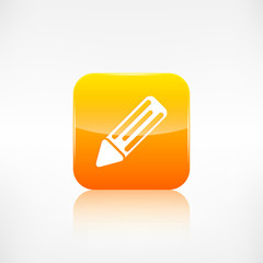 Pencil web icon. Application button.