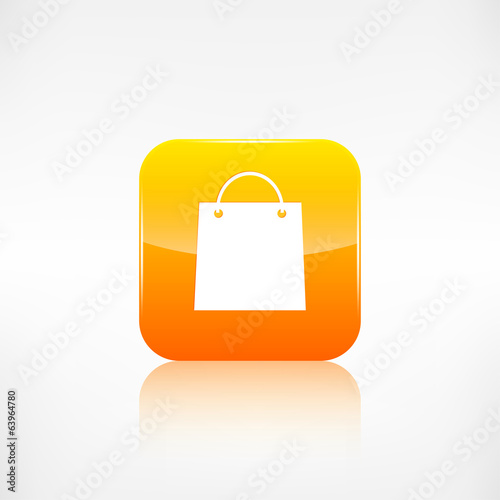 Shopping bag icon. Application button.