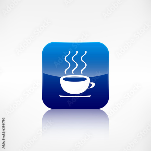 Hot drink web icon. Application button.