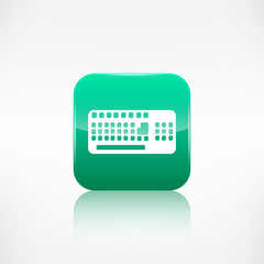 Computer keyboard web icon. Application button.
