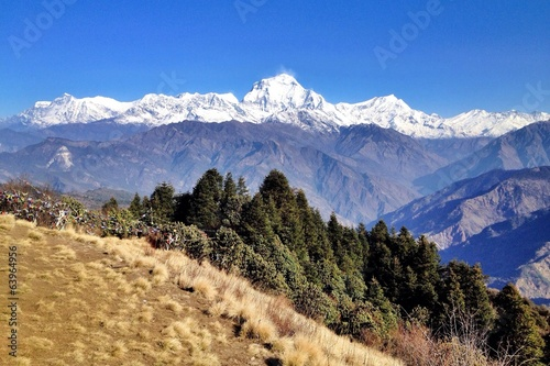 The Dhaulagiri massif in Nepal