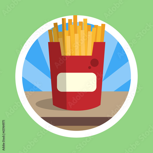 Delicious French Fries Illustration