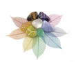 Healing Chakra Crystals on Leaves - 63965171
