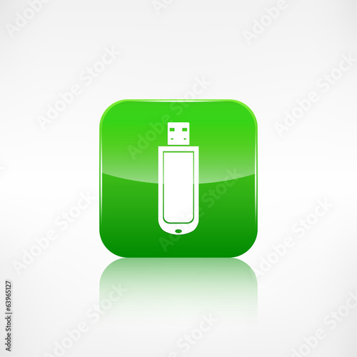 Usb flash drivo web icon. Application button.