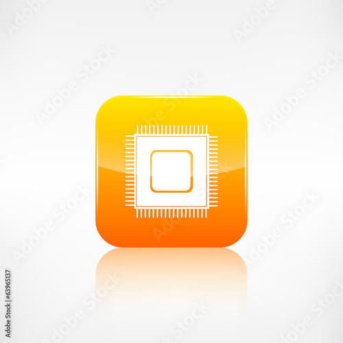 Microchip web icon. Application button.