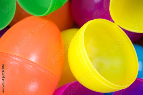 Plastic Easter Eggs Close View